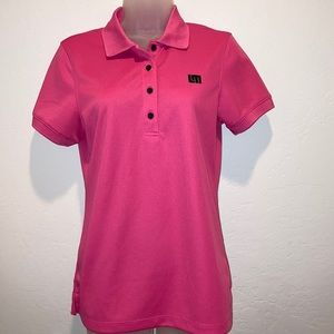 Loudmouth Essential Pink Golf Polo 4-button Medium